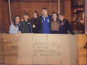Sussex Uni students at 2018 Sleep Easy