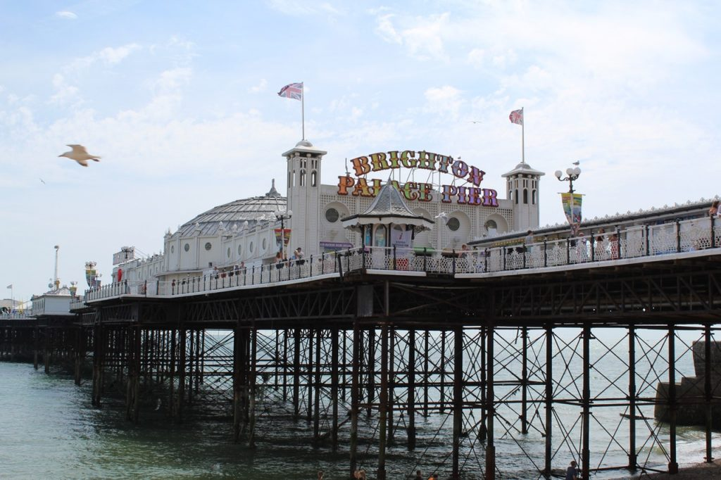 Palace Pier - a lunatic jumped this!
