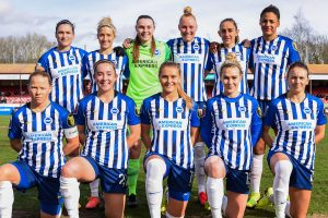 BHAWFCBN1 checks out the action at The People's Pension Stadium, as Brighton & Hove Albion Women's Football Club shows why the women's game is getting a lot more attention