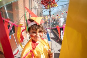 While lockdown means we can't meet outside, the Brighton Festival and Same Sky Children's Parade At Home will be bringing Europe's largest kid's parade indoors on Sat 2 May 2020