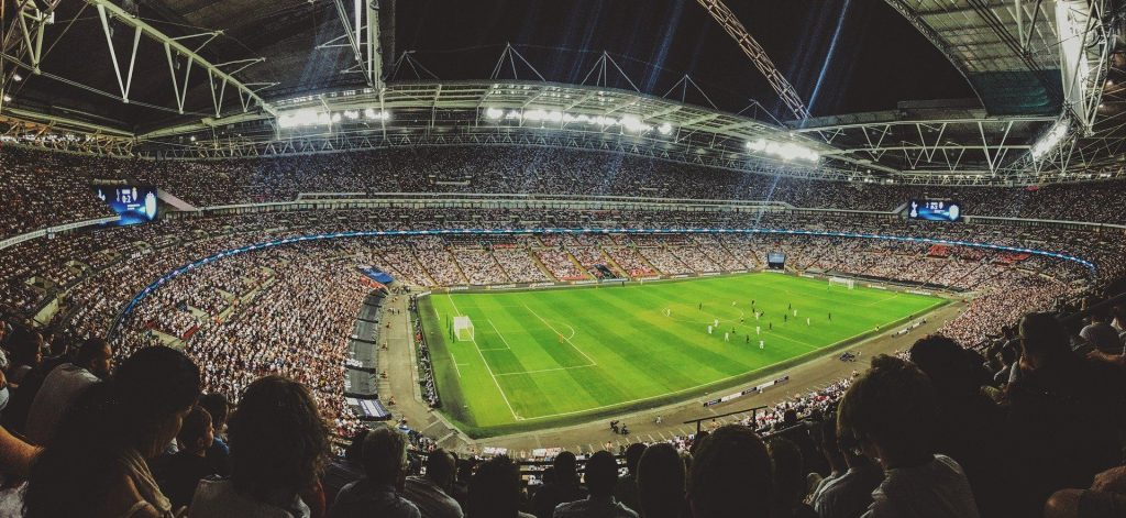 Football with crowd