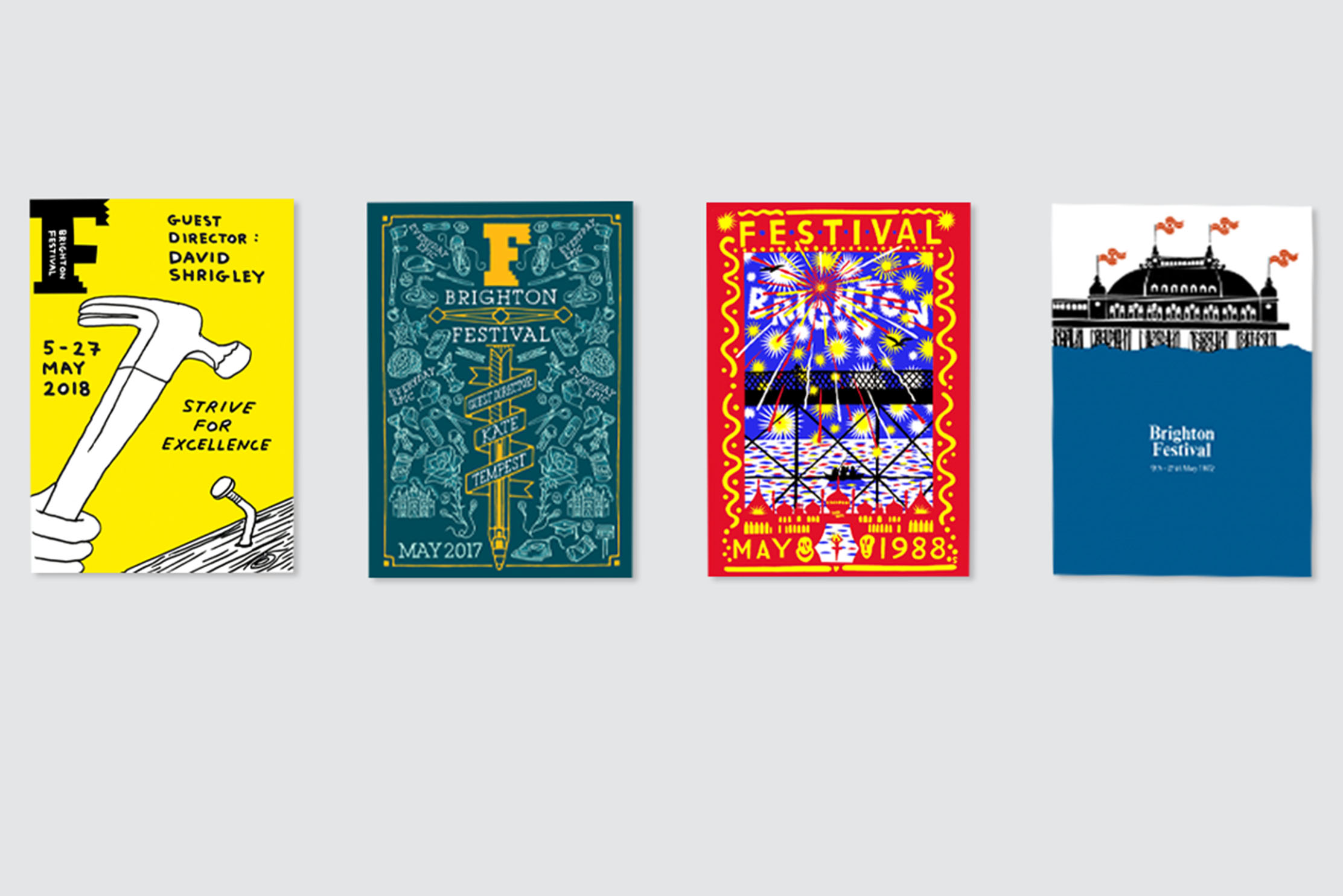 Brighton Dome has released a series of four high-quality art prints from Brighton Festival's back catalogue of posters as part of its #BringBackBrightonDome Crowdfunder campaign